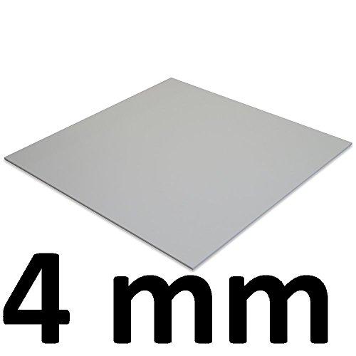 POLYCARBONAT Platte Klar (Alle Größen erhältlich - Zuschnittware) (4 x 250 x 250 mm)