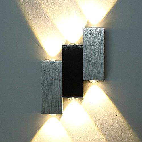 Amzdeal LED Wandlampe design aus Aluminium warmweiß 6W