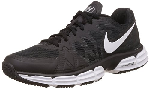 d1c319cac Nike 704889-001 Men S Dual Fusion Tr 6 Black White And Metallic Silver Mesh Running  Shoes 6 Uk- Price in India