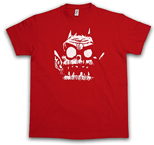 "Urban Backwoods Gorilla Goblin ""J"" T-Shirt – Logo Sign Music Indie Taglie S – 3XL Rosso"