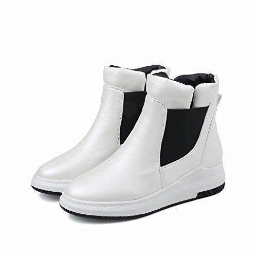 MissSaSa SHORT BOOTS DONNA SLIP-ONS Bianco