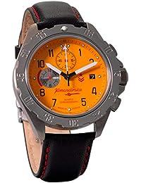 Vostok KOMANDIRSKIE K34 340086 reloj cronógrafo de cuarzo reloj de pulsera militar ruso WR 100 M