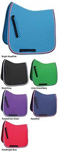 Shires Deluxe Dressur Schabracke-Atemberaubende hellen Farben = wählen Größe B.Blue/Pink Vollblut / Warmblut