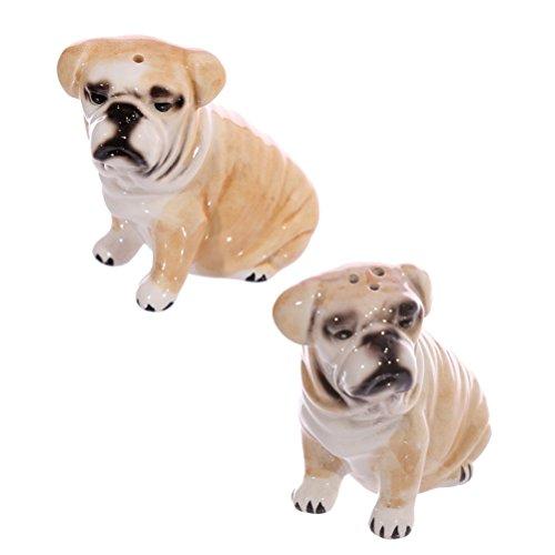 Set sale e pepe a forma di Bulldog in ceramica
