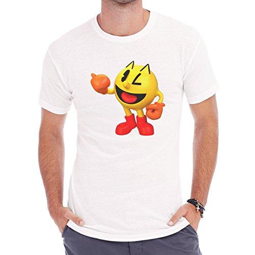 Pack Man Yellow Game Nintendo Blink Herren T-Shirt Weiß