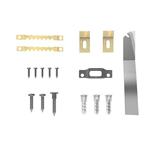 hang-it Bilder Diebstahlsicherung und Schrägmontage Set für Holzrahmen inkl. Spezialschlüssel