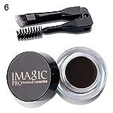Gel Sopracciglia clifcragrocl, Sopracciglio Enhancer Long Lasting Makeup Crema per sopracciglia Gel cosmetico Donna + Pennello - 6