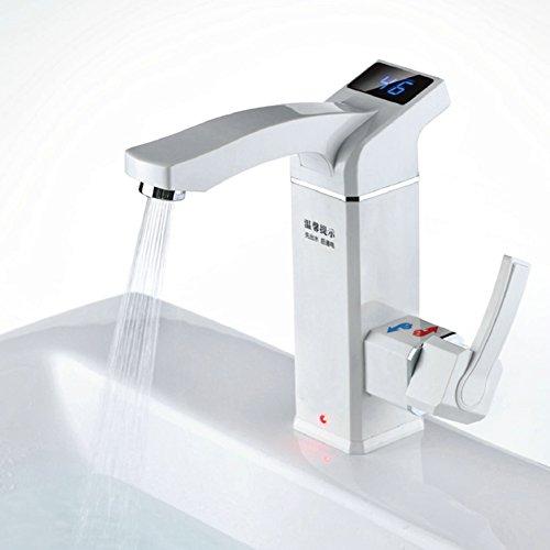 Wasserhahn Tankless Elektrischer LED LCD Temperaturanzeige Küche Bad  Dual Use Edelstahl Sofortig Tankless