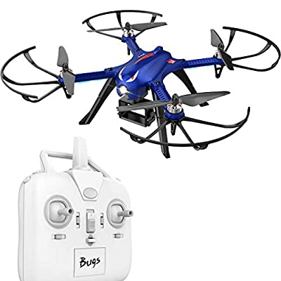 DROCON Bugs 3 RC Quadcopter Drone for Expert with High Speed, 18 Min Flying 300 Meter Remote Control 3D Flip for GoPro wifi HD Camera
