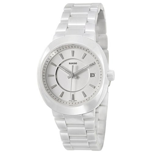 Rado D-Star White Ceramic Womens Quartz Watch Silver Dial Calendar R15519102