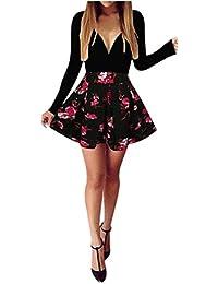 Vestito da Donna Elegante    feiXIANG® Donna Stampa Abito Donne Sexy Vestito aa1ffae1ce9