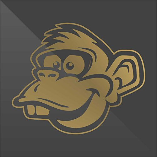 Sticker Scimmia Monkey Singe Mono Affe Oro Gold Or Decal Cars Motorcycles Helmet Wall Camper Bike Adesivo Adhesive Autocollant Pegatina Aufkleber