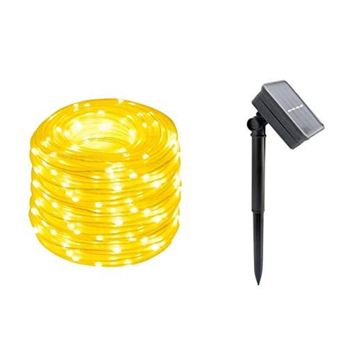 (OSALADI Solarseil Lichterketten 100 LED-Licht Streifen Fairy Tube Licht 12 Meter Party Garden Patio Decoracion)