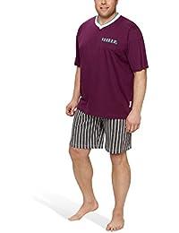 Herren Shorty mit Hose in Streifen-Design in großen Größen - Moonline Plus