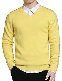 57f798f51302a9 Sunonip Pullover Maglione Uomo Primavera Stile Semplice Pullover Maglione  Lavorato A Maglia in Cotone con Scollo