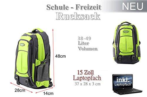 OUTAD 38-49 L Rucksack für Freizeit Schule Sport Schulrucksack Sportrucksack (Orange) Grün