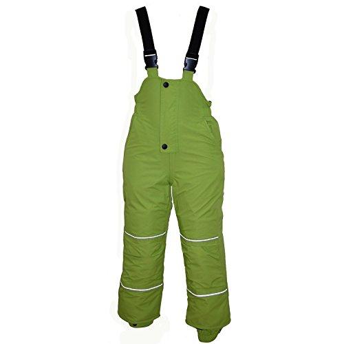 Outburst - Baby Jungen Skihose Schneehose Wasserdicht 10.000 mm Wassersäule, Grün, Größe 122
