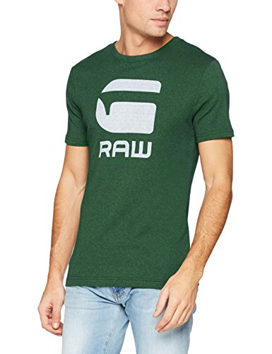 G-STAR RAW Herren T-Shirt Drillon R T S/S Grün (Deep Nuri Green Htr 9007)