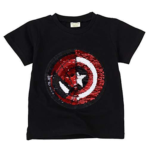 Camisetas Lentejuelas Mágico Reversibles Algodón Manga Corta Arriba Niño Niña 3-8 años 4