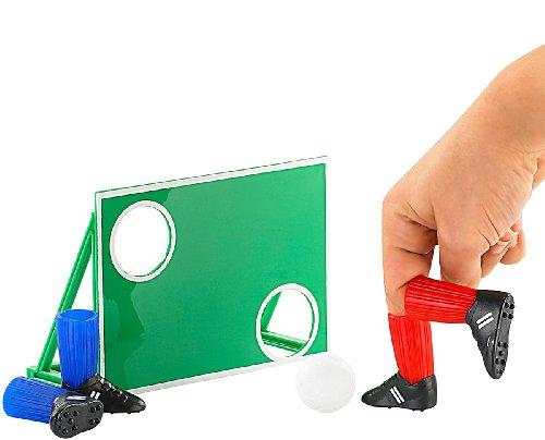 Playtastic Fingerfussball: 9-teiliges Finger-Fußball-Set mit Torwand (Kickfinger)