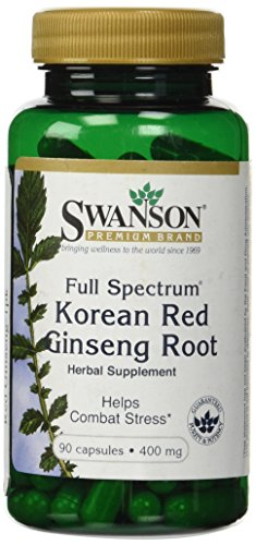 Swanson Premium Full-Spectrum Korean Red Ginseng Root 400 Mg 90 Caps  available at amazon for Rs.1261