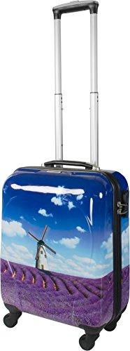 4 Rollen Hartschalenkoffer Koffer Trolley Reisetrolley Hartschale inkl. Zahlenschloss Lavendel