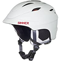Sinner Unisex Gallix II Ski Helmet with Protection Pouch, Matte White, Medium/58 cm