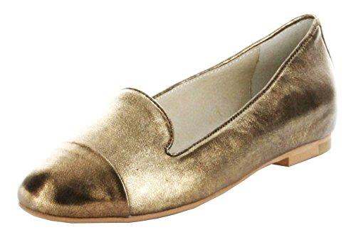 Josef Seibel Bailarinas De Ouro Capa De Couro Calcinhas Calçados Femininos Bronze 02 Minu
