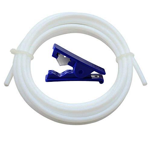 hlauch für Düse, WPERSUVV 8 Meter PTFE 1,75 mm Filament ID 2 mm OD 4 mm TL-Feeder Hotend für Reprap Rostock Bowden Extruder + Leitung Rohrschneider ()