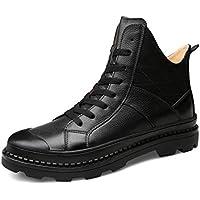YAN Chaussures Homme Cuir Automne New Martin Bottes Haut-Haut Casual  Chaussures De Cyclisme Chaussure 97f3b2e4c2c2