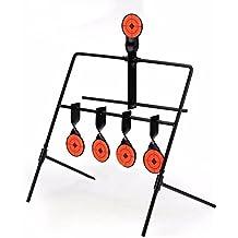 5 blancos giratorios de reinicio automático para práctica de tiro, objetivos de metal auto resetting