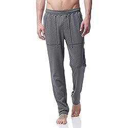 Jogging Hombre,Trainning Pants, Pantalones Deportivos, Joggers Pantalón Largo, PH-20(S,Grey)