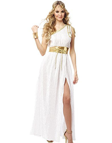 Franco Grecian Beauty Womens Toga Halloween Costume ()