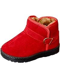 Botas De Nieve para Niños Niña Pequeños Calientes Zapatos Antideslizantes  Invierno 76a8eb928c4