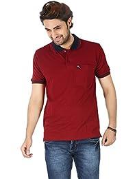 Basilio Men's Contrast Polo Neck High Quality Cotton T-Shirt