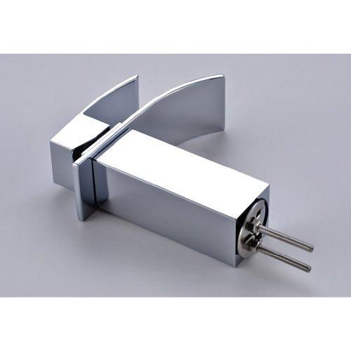 Auralum® Design Einhebel Wasserhahn Armatur Waschtischarmatur Wasserfall Einhandmischer für Badezimmer Waschbecken -