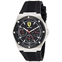 Scuderia Ferrari MEN'S BLACK DIAL BLACK SILICONE WATCH - 830537