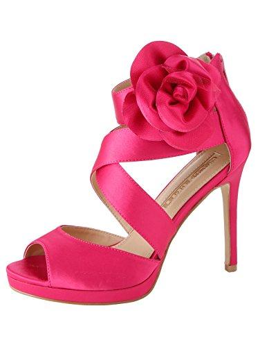 Buffalo Ladies 316055 Satin Ch 1 # Sandali Con Cinturino Rosa