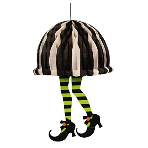 Halloween-Papieranhänger, 1 x Papier-Kürbis-Anhänger, Halloween-Requisiten, langlebig, für Geisterfeste, KTV, Bar, Garten, Halloween-Dekoration StyleB