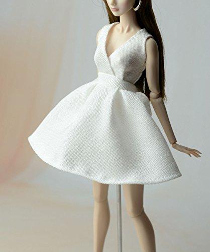 AK-30 Schöne und modische Handgefertigte Puppe Kleidung für Barbie Puppen/Freizeit Puppenzubehör Dress Up (Weiß)