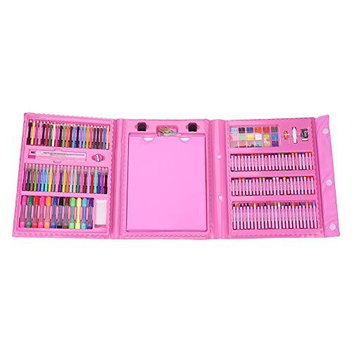Wallfire Kunst Zeichnung Öl Pastell Kreide Farbe Bleistift Marker Pen Radiergummi Pinsel Farbe Set Kit Pink (Kreide-marker, Radiergummi)