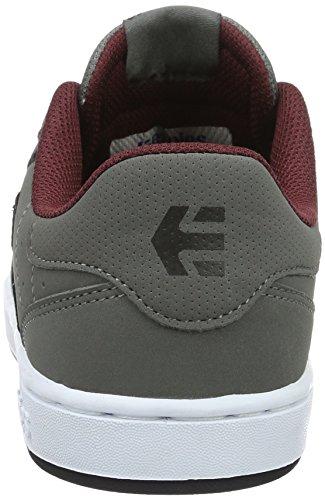 Etnies Fader Ls, Chaussures de Skateboard Homme Grau (035 , Grey/Black/Red)