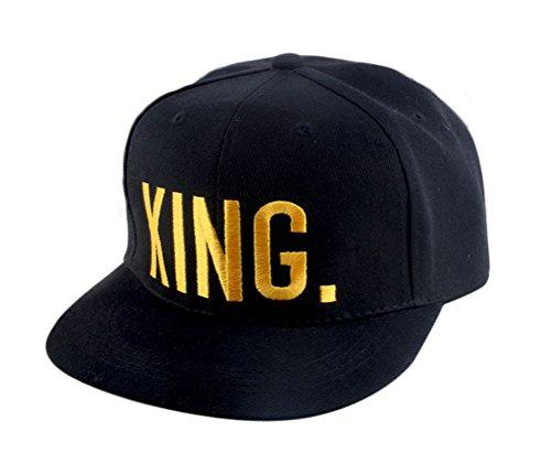 *Nanxson (TM) Unisex Männer Damen Baseballcap Sport Buchstabe Druck verstellbar Sonnenhut Kappe MZM0049 (Gold King)*