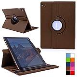 COOVY® Cover für Huawei Mediapad M3 Lite 10 Rotation 360° Smart Hülle Tasche Etui Case Schutz Ständer | Farbe braun