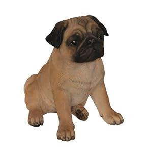 Vivid Arts Mops Hund, Kunstharz (Größe B) von Vivid Arts Ltd - Du und dein Garten