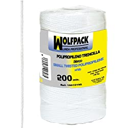 Wolfpack 16010130 Cuerda Trencilla Polipropileno Blanco (Bobina 200 Metros)