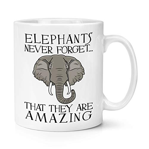 Elefantes Nunca Olvides que Son Impresionante 10oz Taza