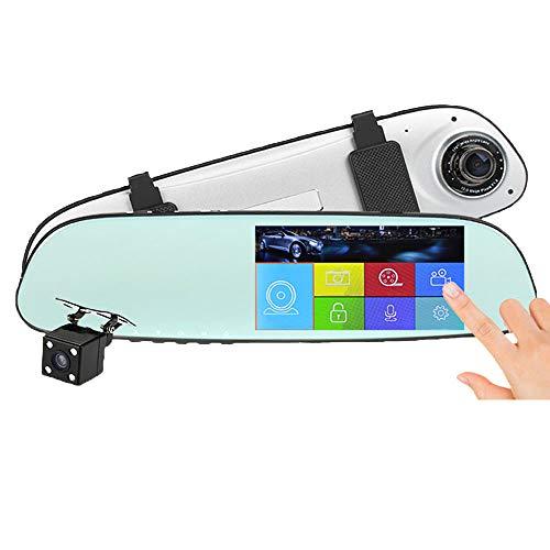 CWWHY Spiegelkamera Für Autos, 6,5-Zoll-Rückfahrkamera, 1080-Zoll-Frontkamera, 720-Zoll-Rückfahrkamera, Einparkhilfe Mit Nachtsicht Und Kostenloser 32-GB-SD-Karte