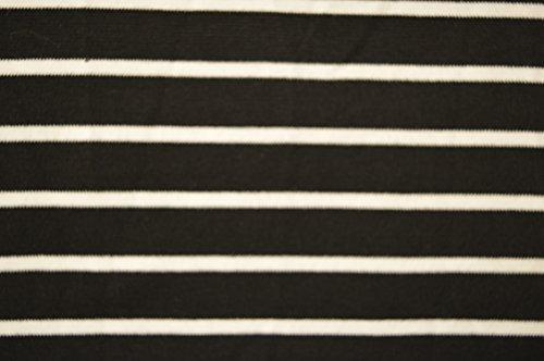 Bianco e nero Sailor Nautical Stripe Maglia in jersey