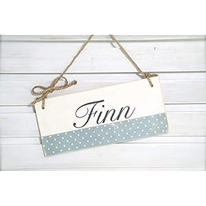 Namensschild Tür-Schild fürs Kinderzimmer aus Holz